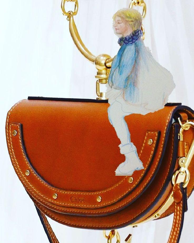 Fashion illustration Chloe,Chloe bag