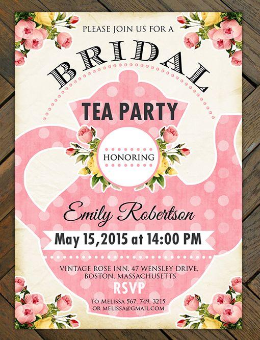 Best 20 Bridal Tea Invitations ideas – Wedding Shower Tea Party Invitations