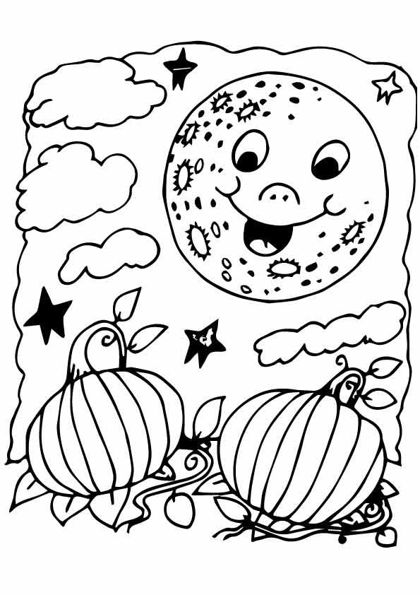 Coloring Page Moon Coloring Pages Halloween Coloring Sheets Halloween Coloring Pages