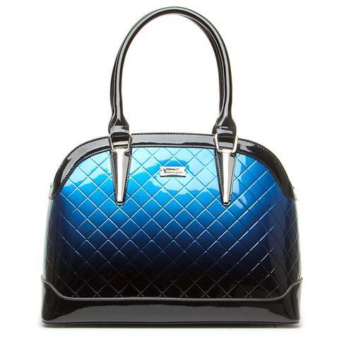 Serenade Leather - Quilted Azure Handbag