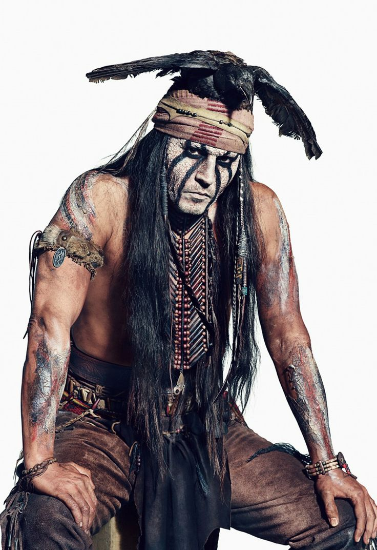 Johnny Depp:Tonto in movie The Lone Ranger