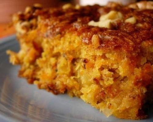 Постный кекс с цитрусовыми, морковью и яблоком / Простые рецепты