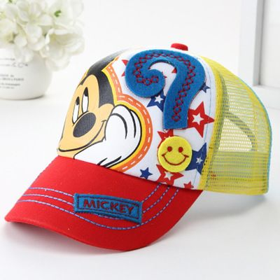Kids Mickey mouse baseball cap in range of colours $3.88 from Aliexpress