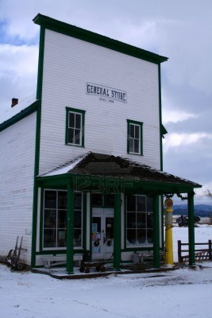 Old country store located in central Idaho