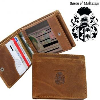 Herren Geldbörse GETTY aus braunem Leder