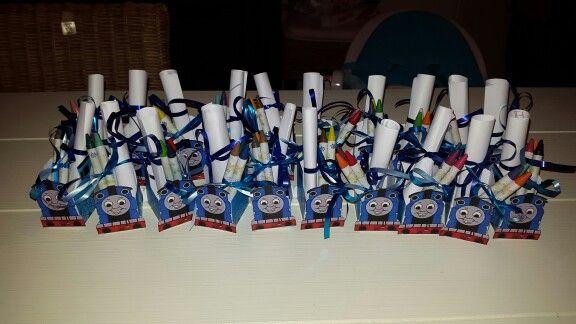 Thomas de trein give away voor de kinderopvang voor mijn zoontjes derde verjaardag