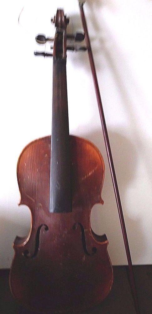 Vintage Antonius Stradivarius Violin Cremonensis Anno 1726 Bow Marked for Repair #AntoniusStradivarius