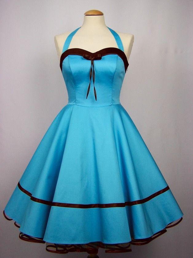 Abendkleider - Kleid,Petticoatkleid,Abendkleid, türkis - ein Designerstück von charme-mode bei DaWanda