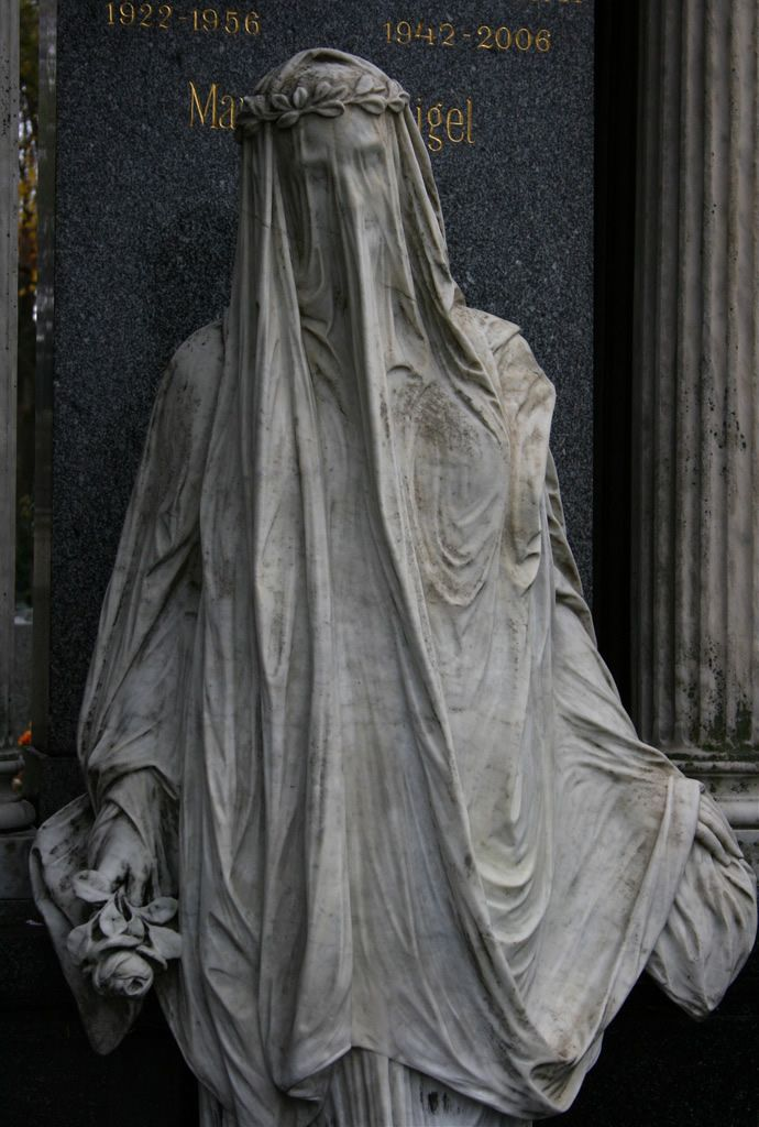 I have always loved old cemeteries. The art found on headstones and the statues can be amazing.    Zentralfriedhof statue
