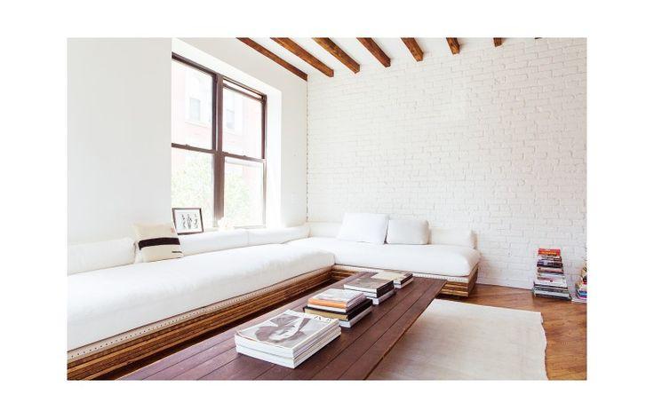 Living room of Daphne Javitch | J.Crew Blog Upper West Side, New York - Former costume designer  turned founder of lingerie line TEN Undies