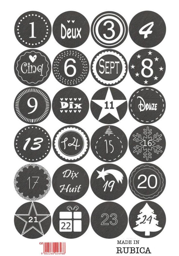 Les 25 meilleures id es de la cat gorie calendrier de l 39 avent sur pinterest id es de l 39 avent - Chiffres pour calendrier de l avent a imprimer ...