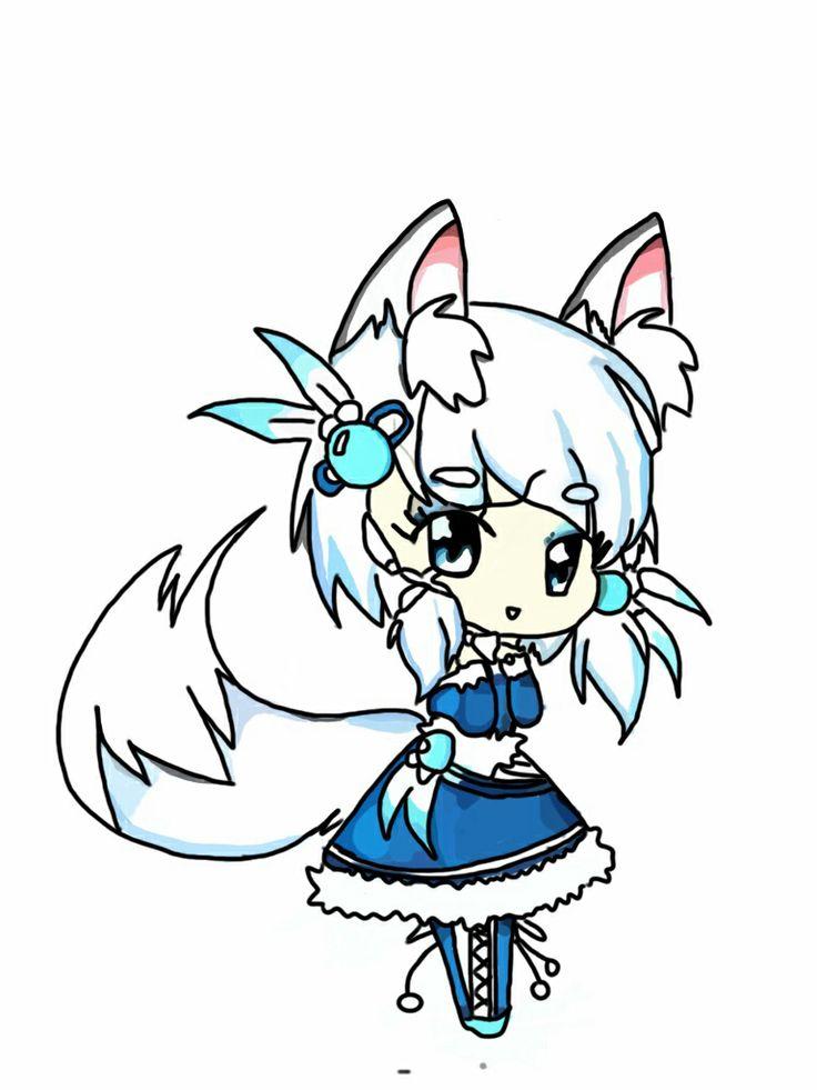 anime kawaii wolf: My Chibi Anime Wolf Girl