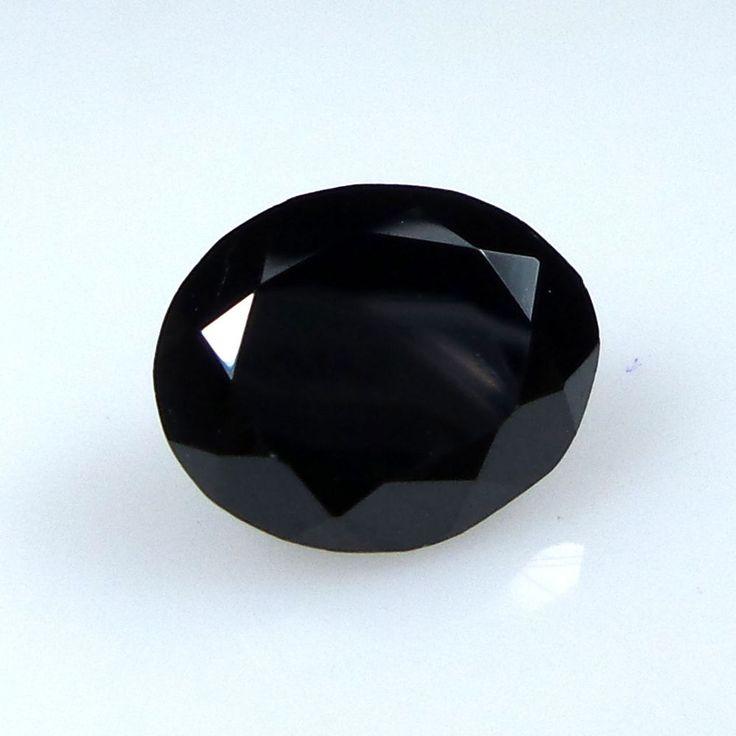 4.7 Crts 10.8x9x6.2 MM Natural Black Spinel Oval Shape Faceted Loose Gems #Unbranded