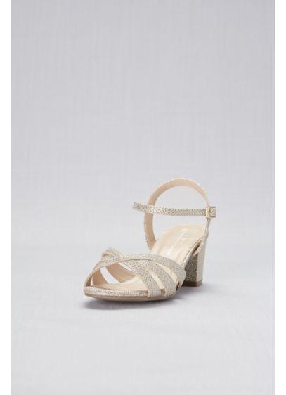 ce951737b230 Glitter Metallic Block Heel Wide Width Sandals Style COLETTEW ...