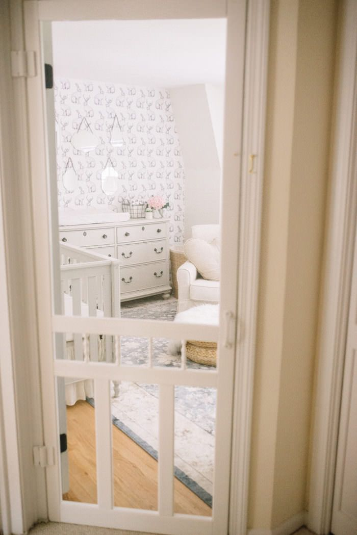 5 reasons to put a screen door in your baby's room // A post that talks all about why we did it and why you should to!