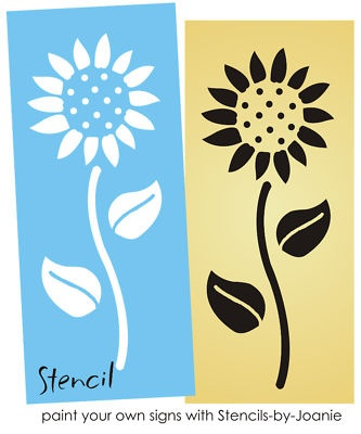 Easy Sunflower STENCIL Country Floral Garden Primitive Kansas Decor Sign U Paint | eBay