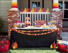 16 best boy birthday party ideas! Fire Truck Birthday party by paperandcake.com