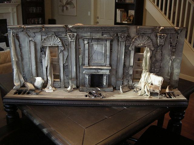 Miniature, fascinating this subject was chosen. Death of a Grand Dame / After the Blitz by Ken@JBM, via Flickr