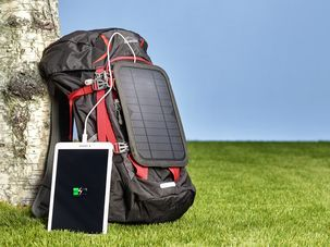 Exibel solcellelader med USB, 6 W