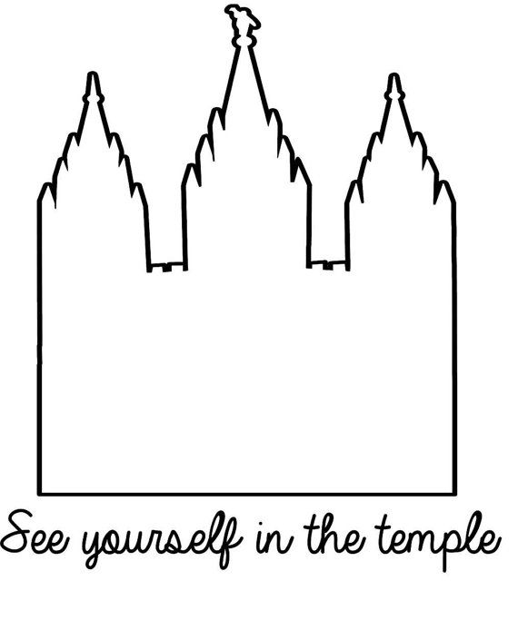 See Yourself In the Temple vinyl decal decor with LDS temple outline. Perfect for your mirror and adds a beautiful decor addition to your