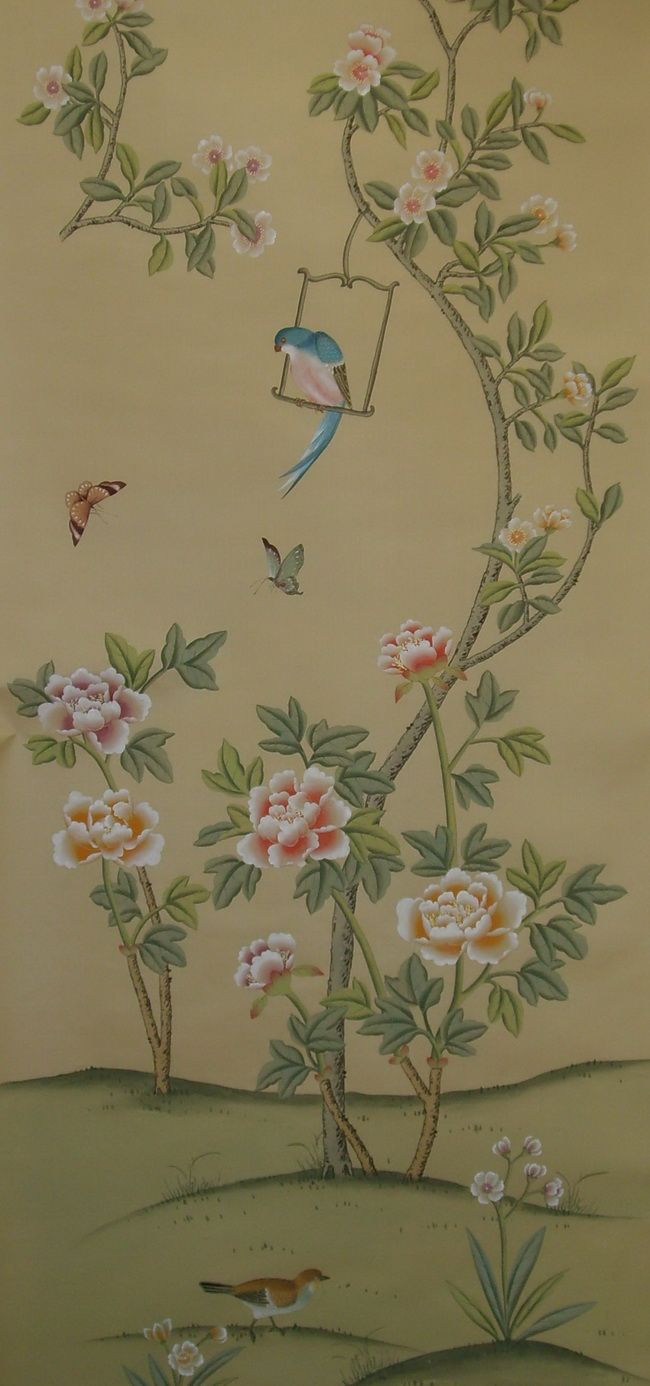 267 Best Chinoiserie And Wallpaper With Birds Images On Pinterest