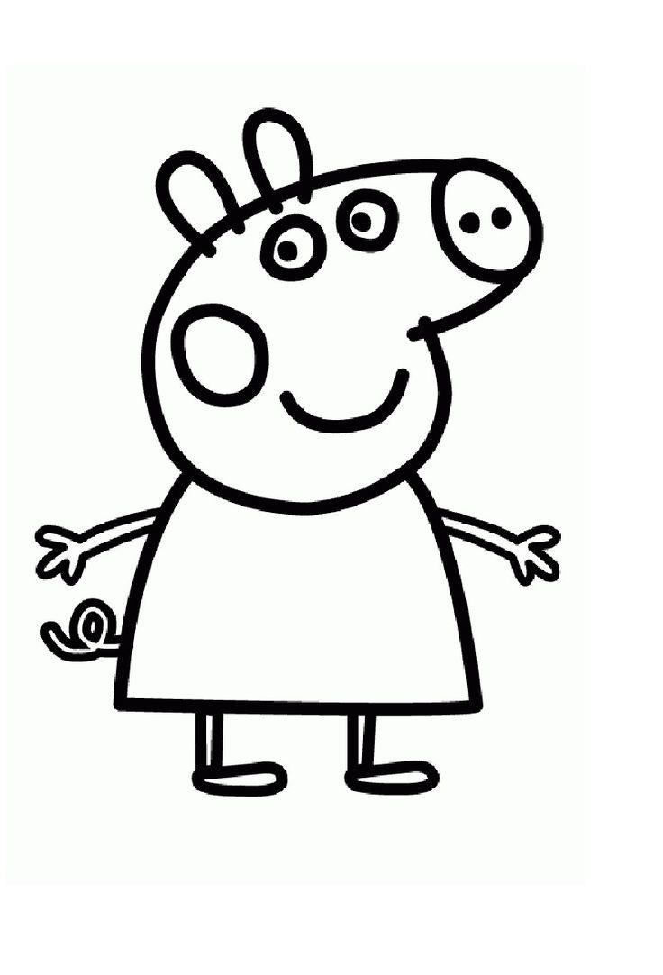 pepa pig Moldes Pinterest Coloring Peppa pig and Dibujo