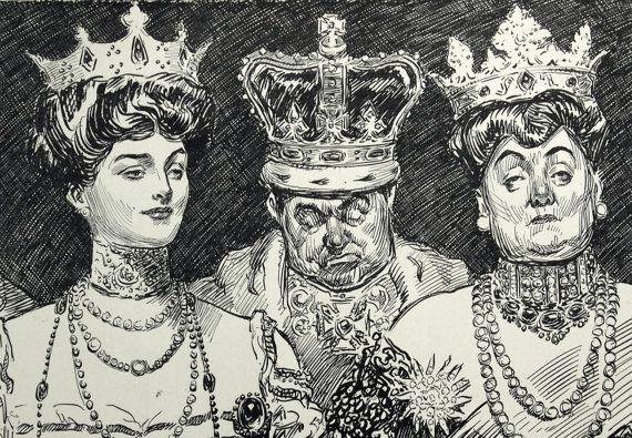 1907-antique-charles-dana-gibson-print