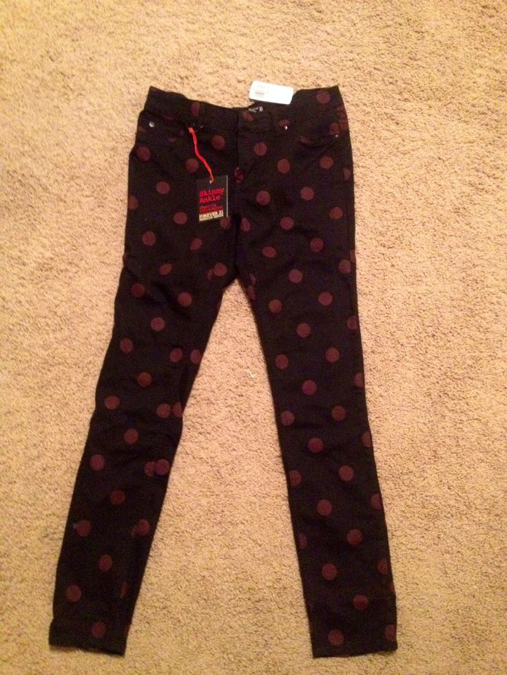 Polka dot skinny jeans from Forever21, size 26 NWT, 10 glitter