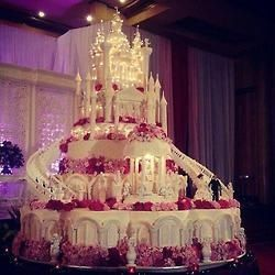 Huge Castle Wedding Cake