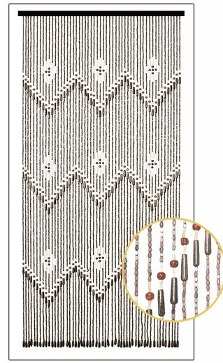 Wooden Bead Curtain – Shanghai – 35 1/4″ x 77″ – 52 Strands (Extra Coverage)