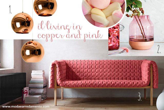 Oggi vi presento l'abbinamento #copper e #pink, ovvero, l'unione tra un metallo antico come il #rame e un colore iperfemminile come il #rosa.