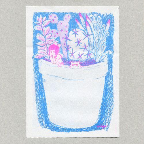 花と植物びんせん - レトロ印刷JAM オンラインお店