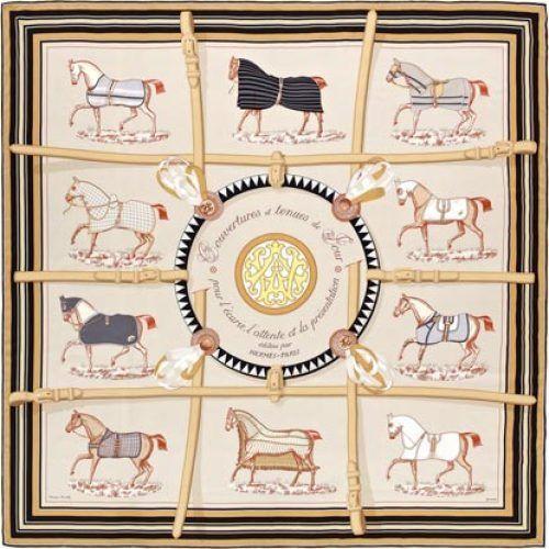 Couvertures et Tenues de Jour Hermès Silk Scarf: Shades of Pastel | Vintage Carré | @vintagecarre | www.vintagecarre.com