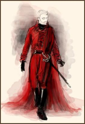 "Costume concept of ""Red Death"" for the 2004 film The Phantom of the Opera"