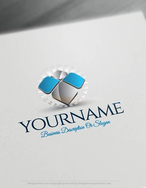 Create a Logo Free - Abstract 3D Logo Templates Ready made Online Abstract 3D logo templates Decorated with of the sun and a simple 3D image. This professional company logos great for branding Consulting business, or any company that wants to transmit Creativity and Innovation. etc.     How to design free logo online? 1- Customize This logo with our free logo maker tool