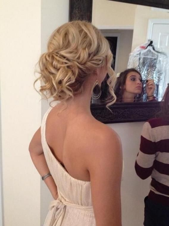 blonde prom hair   Twitter / jamiewarzel: Prom hair low messy bun ...