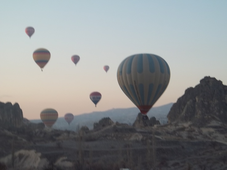 Balloon ride over Goreme Open Air Museum in Cappadocia, Turkey.  Amazing once in a lifetime experience!!