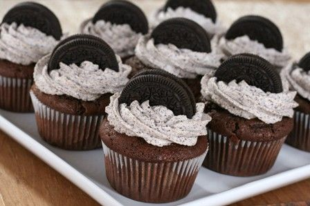 Oreo Cupcake: Desserts, Cup Cakes, Idea, Sweet, Cupcake Recipes, Cookie Cupcakes, Food, Yummy, Oreo Cupcakes