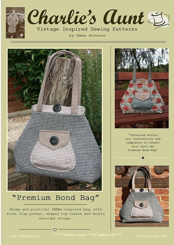 Premium Bond Bag PDF sewing pattern INSTANT von charliesaunt