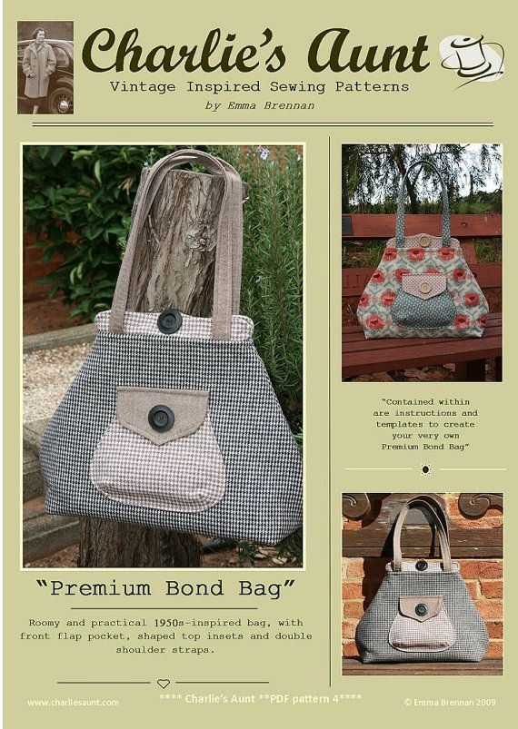 Sewing pattern to make the Premium Bond Bag  PDF by charliesaunt