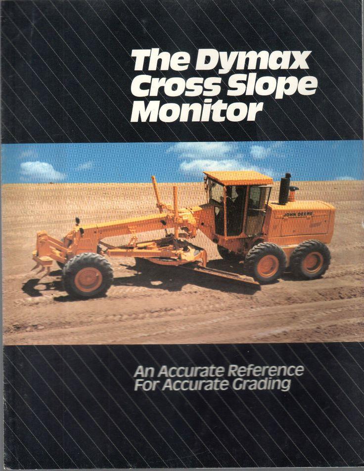 1988 John Deere Trator Motoniveladora Dymax lâmina Brochura | eBay