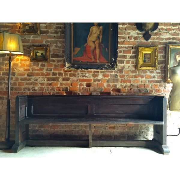 Fabulous Antique Church Pew Settle Bench Victorian 19th Century ($760) ❤ liked on Polyvore featuring home, furniture, storage & shelves, outdoors furniture, outdoor furniture, england furniture and outside furniture