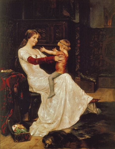 """Queen Bianca"" (1877) by Albert Edelfelt"