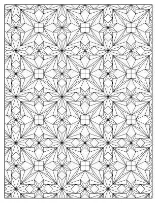 illusion coloring pages for kids | ... on the eyes, creating the illusion of popping out from the page