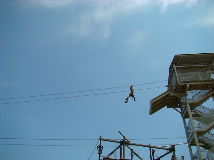 Zip line across the water @ Broadway At The Beach Myrtle Beach SC