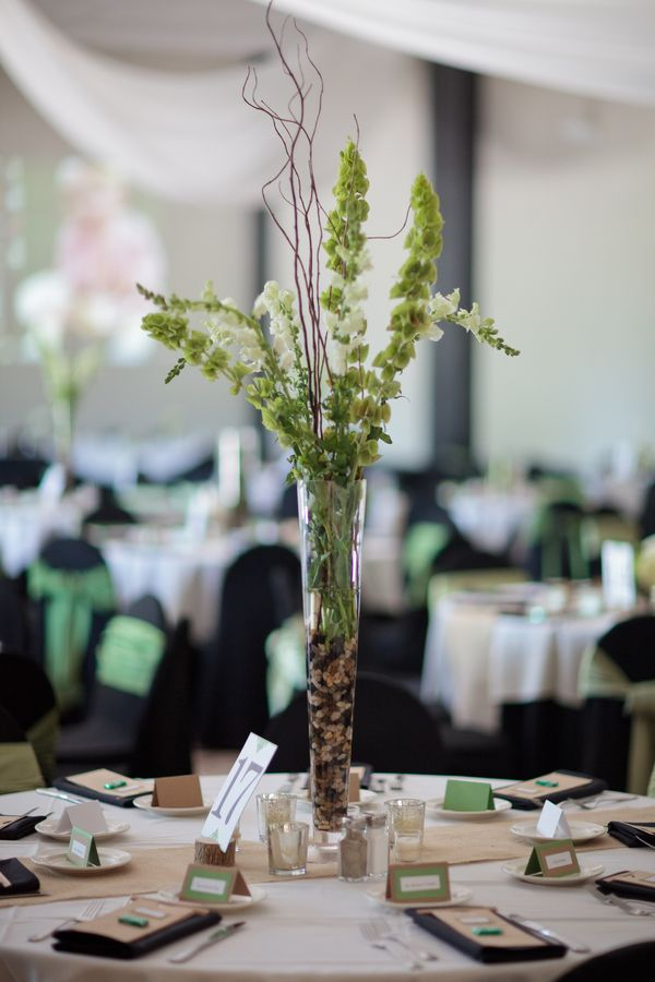 Tall bells of ireland centerpiece centerpieces