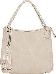 Τσάντα ώμου με διπλά λουριά σε σχέδιο πλεξούδα WK9990.A673+4