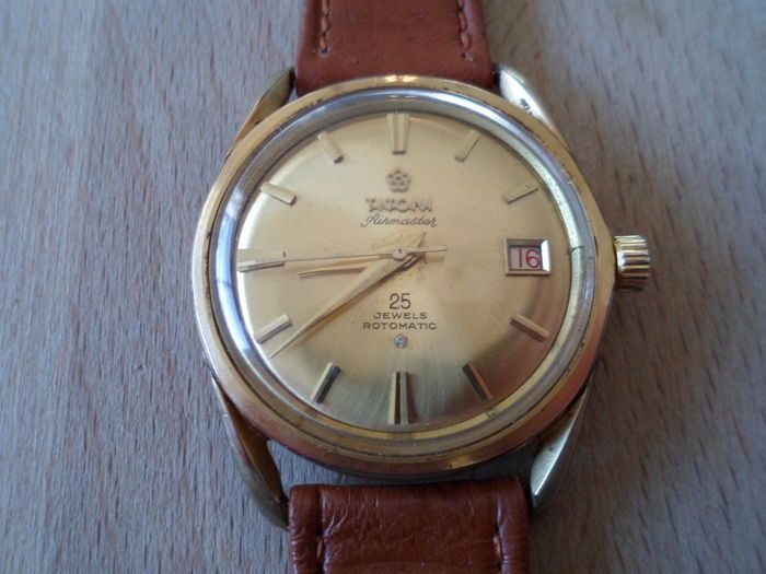 Currently at the #Catawiki auctions: Titoni Airmaster, 25 Jewels Rotomatic - Vintage c.1960's wrist watch - Gents