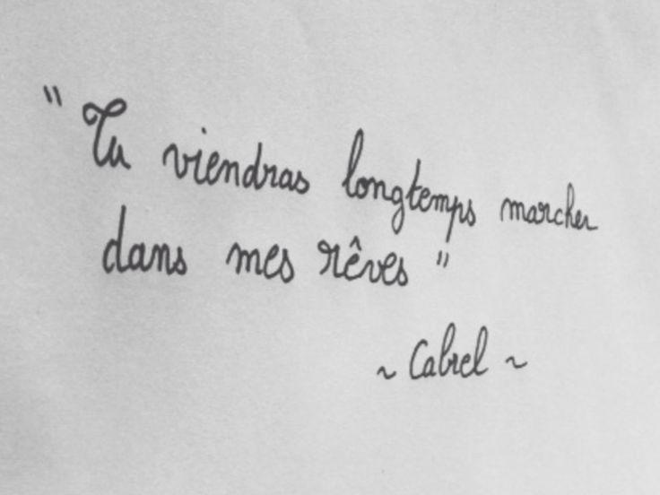 Tu viendras longtemps marcher dans mes rêves. Francis Cabrel