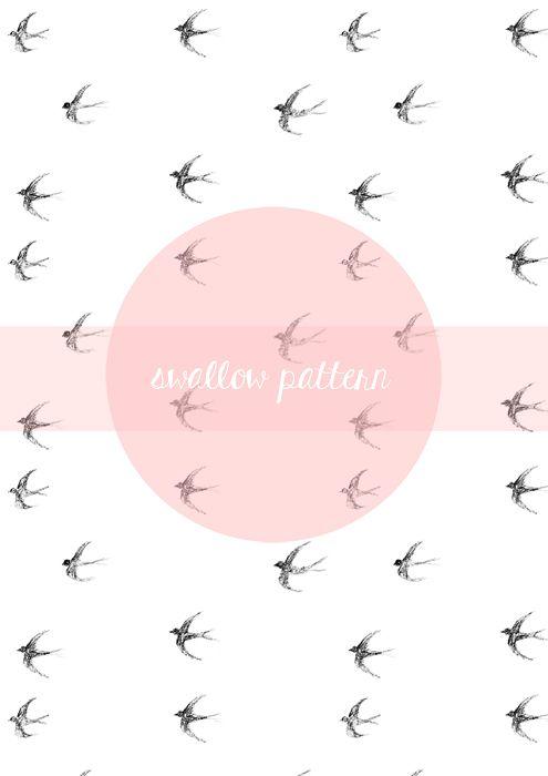 Swallow Pattern || https://www.facebook.com/pracowniaszumowska